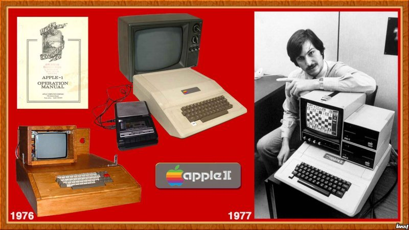 Apple Computer : 1976 Apple 1 - 1977 Apple 2 (photo Steve Jobs)