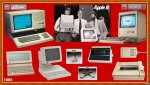 Apple 1984 : Lisa 2 - Jobs, Sculley, Wozniak - //c - Macintosh 128K et 512K - Scribe Printer - ImageWriter